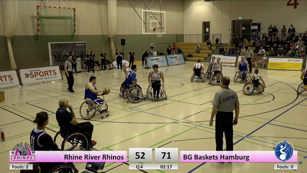 Rhine River Rhinos vs. BG Baskets Hamburg
