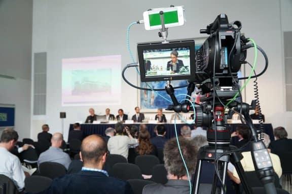 Livestream Frankfurt - Kamera auf Produktion