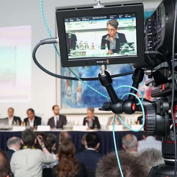 Livestream Dienstleister - Kamera im Anschnitt