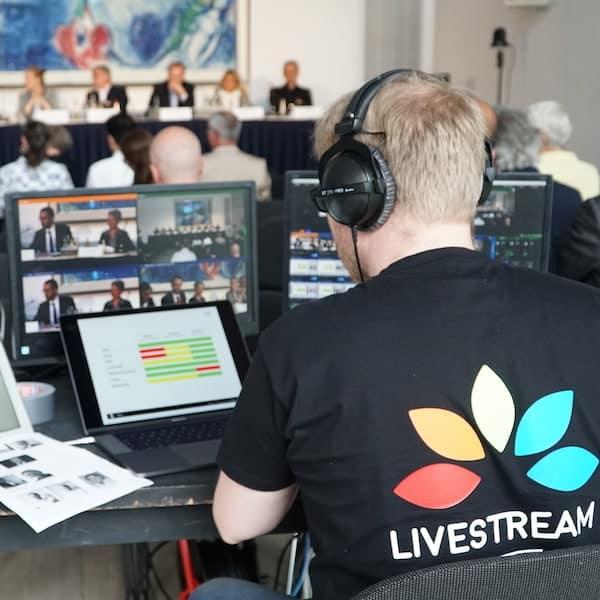 Livestream Produktion - an der Bildmischung