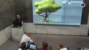 Vortrag auf dem Messestand von MAXON auf der IBC Amsterdam