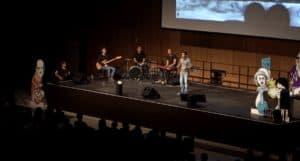 Bühne bei der Deutschen Meisterschaft im Science Slam