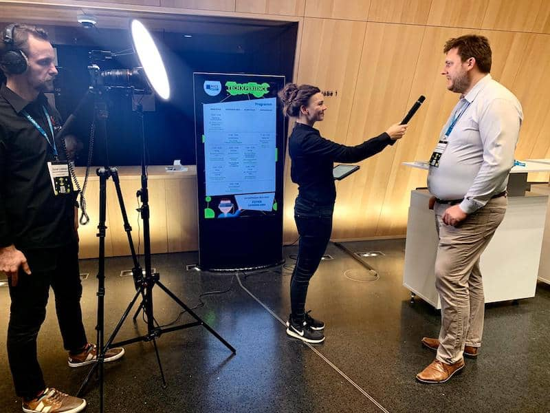 Interview auf der TechX 2019