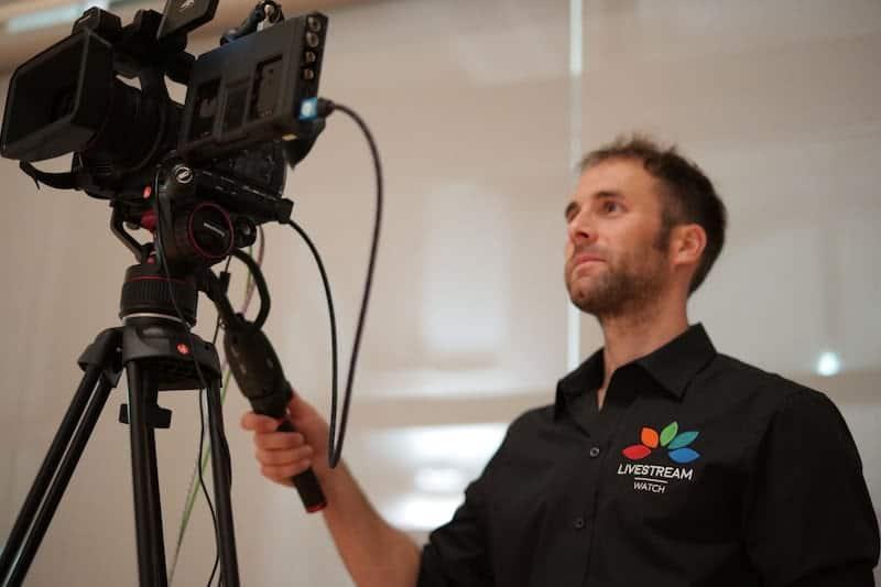 Kameramann auf hybriden Events