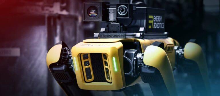 Roboter vom Typ Spot mit speziellen Armaturen von Energy Robotics
